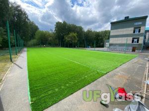 Монтаж мини-футбольного поля 40 мм